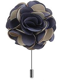 Del Traje De Hombres boutonniere solapa Pin de flores broche tela full Blossom