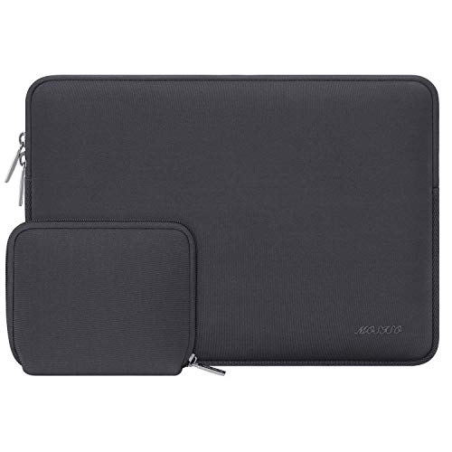 MOSISO Wasserabweisend Neopren Hülle Sleeve Tasche Kompatibel 13-13,3 Zoll MacBook Pro, MacBook Air, Notebook Computer Laptophülle Laptoptasche Notebooktasche mit Kleinen Fall, Space Grau