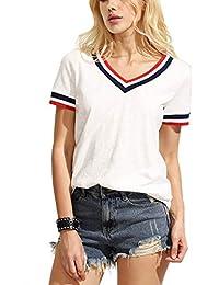 FreshTrend Plain Grey Melange Cotton V-Neck Tshirt for Women