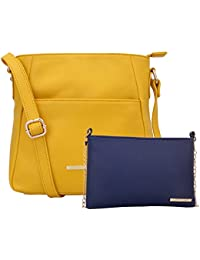 Lapis O Lupo Combo Yelou Women Sling Bag And Sling Bag (Yellow,Blue)