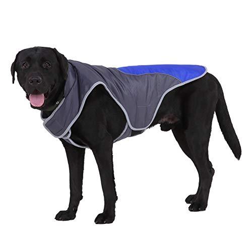 Handfly Chaqueta para Perros Impermeable Abrigo para Perros Chaqueta Reflectante para Perros con Orificio para arnés Abrigo para Perros de Invierno Chaleco Ropa para Perros medianos y Grandes