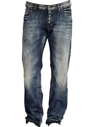 PRPS Barracuda Jeans Blue Shangri La Distressed Straight Leg E61P86X NEW 100% Original PRPS Choice of Sizes - 28-40 (Waist 38)