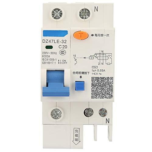 Leistungsschalter, DZ47LE-32 1P + N 16A 20A 230V Fehlerstromschutzschalter(20A) Ideal Circuit Tracer