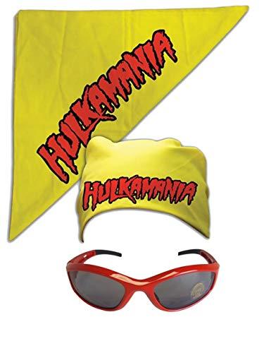 Unbekannt Kostüm Sonnenbrille Kopftuch Hulk Hogan Hulkamania Rot Gelb