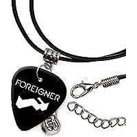 Foreigner Band Logo Gitarre Plektrum Schnur Halskette Necklace (H)