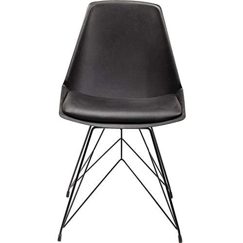 Kare Design - Chaise Design Simili Cuir Noir WIRE