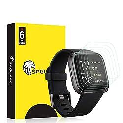 SPGUARD Schutzfolie Kompatibel mit Fitbit Versa 2 Schutzfolie,[6 Stück] LiQuidSkin Anti-Bubble Displayschutzfolie für Fitbit Versa 2/2 Special Edition