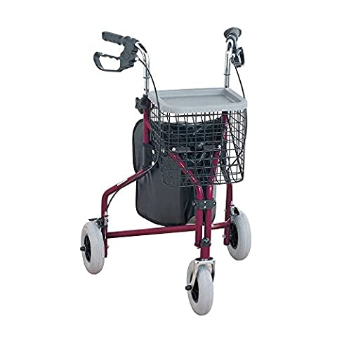 3 Wheeled Tri Walker Easy to Use - RED