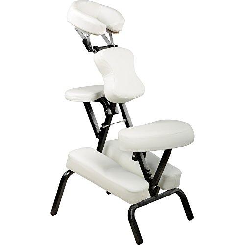 Movit® Faltbarer Massagestuhl/Tattoo Stuhl inkl. Tasche, belastbar bis 200 kg, Farbwahl, schadstoffgeprüft, Farbe Weiß