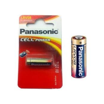 Panasonic LRV08 pila alcalina - Batería: alcalinas para alarmas de coche (la mayoría de los) 23AE LRV08 23A. MN21, V23GA 33 mAh 12 V 28,9 x 10,3 mm ...