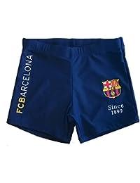 FC Barcelone - Boxer de bain FC Barcelone enfant bleu marine Taille de 6 à 14 ans - 6 - 8 ans,8- 10 ans,10-12ans,12 - 14 ans