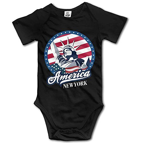 HFJFJSZ Toddler Bodysuit New York Statue of Liberty Infant Onesie Jumpsuit Liberty Infant Bodysuit