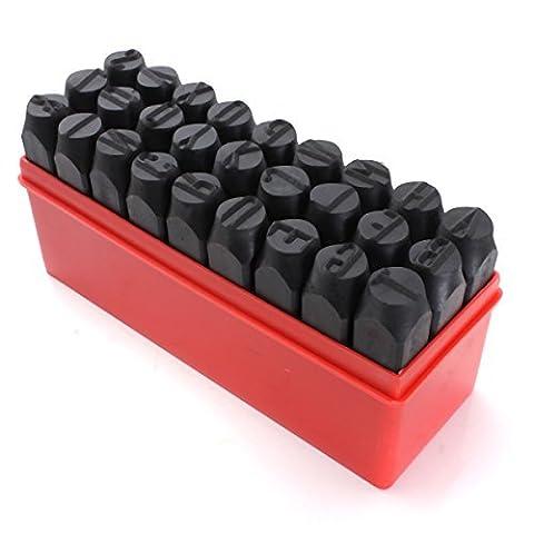 Praegung Werkzeug - TOOGOO(R)Briefmarken Alphabet Praegung Stahl Metall Werkzeug Koffer 12.,5 mm