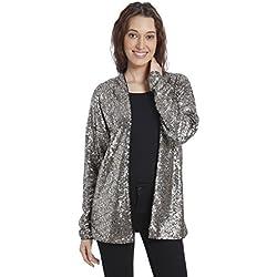 Vero Moda Women's Casual Blazer (_5712838843203_Silver_Large_)