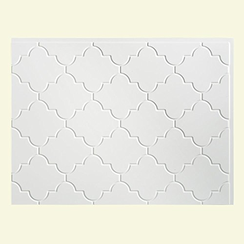 Fasade Easy Installation Monaco Gloss White Backsplash Panel for Kitchen and Bathrooms (18 x 24 Panel) by Fasade (Fasade Panels Backsplash)