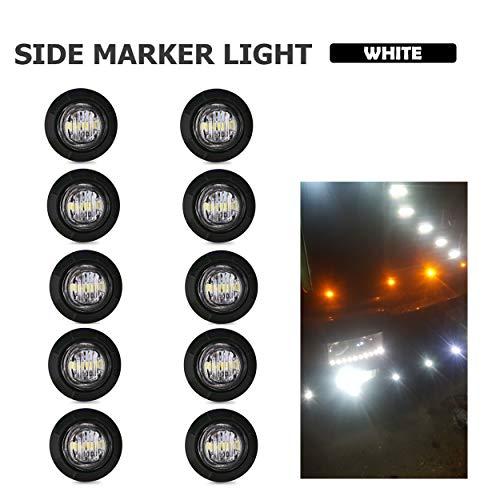 4/piezas 24/V blanco LED rojo trasera Side Marker luces Cami/ón Remolque Camper Caravana Bus SUV Van