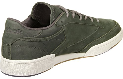 Reebok Club C 85 Wp, Scarpe da Fitness Uomo Verde/grigio (Hunter Green/Urban Grey/Chalk Gum)