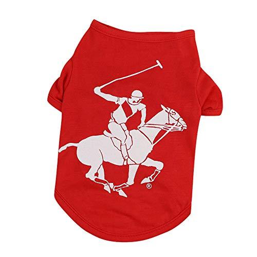 Xmiral Maglietta per Abbigliamento per Cani Costume per Cuccioli per Cani  di Piccola Taglia Rosso S 260b1b39f1a
