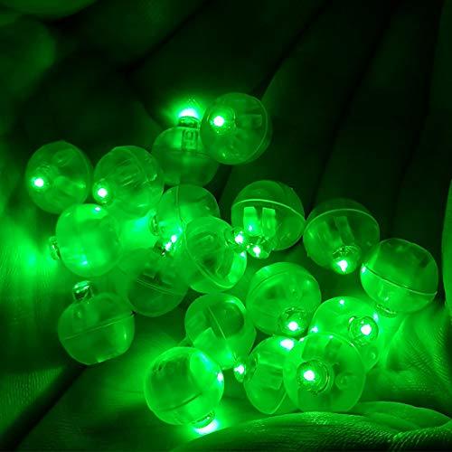 FineInno 100 Stück LED Ballons Lichter Ball Lampe Wasserfeste Blinking Nachtlicht Party Beleuchtung Leuchten Spielzeug for Weihnachten Xmas Thanksgiving Wedding (Grün bleib hell)