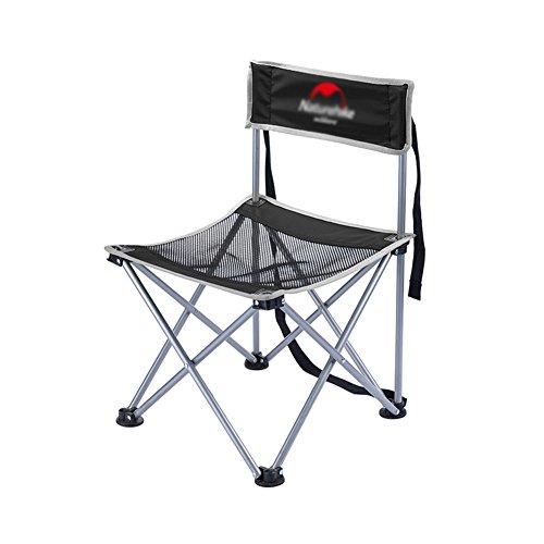 DLDL Rückenlehne Klappstuhl Sitz Ultralight Ergonomics Mini Mazar Angeln Stühle, Hocker (Farbe : SCHWARZ)