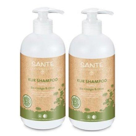 Sante Cure Shampoing bio Ginkgo & Olive 2 x 950 ml fülle Volume Brillance cheveux Cure Contenu du radieuse facile Collant sans les alourdir sans produits chimiques