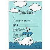 Patenurkunde - Kleiner Wal Liebe - Paten Urkunde Patenbrief Taufurkunde Patenschaft Taufpaten Geschenk für Patentante Patenonkel Taufgeschenk vom Patenkind Taufe Patengeschenk Taufbrief