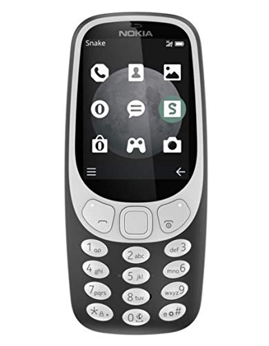 Nokia 3310 3G Mobiltelefon (2,4 Zoll Farbdisplay, 2MP Kamera, Bluetooth, Radio, MP3 Player, Dual Sim) charcoal (Nokia 3310)