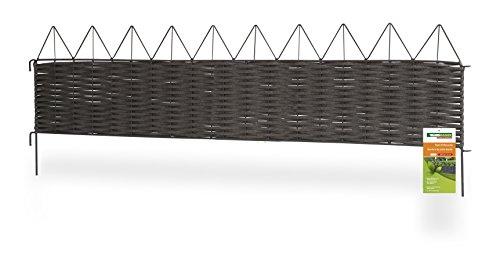 Windhager - Valla con borde de pirámides (PVC y metal)