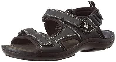Hush Puppies Men's Decode Sandal Black Athletic & Outdoor Sandals - 7 UK/India (41 EU) (8646909)