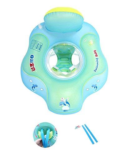 Baby Swimming Float- [2nd Gen] Emsems Infant Toddlers Pool Swim Float Ring Design mit Halterung und Rückenteil aufblasbar mit Poolspielzeugen Zubehör und 1 Paar Schultergurte (Größe S, L, XL) -