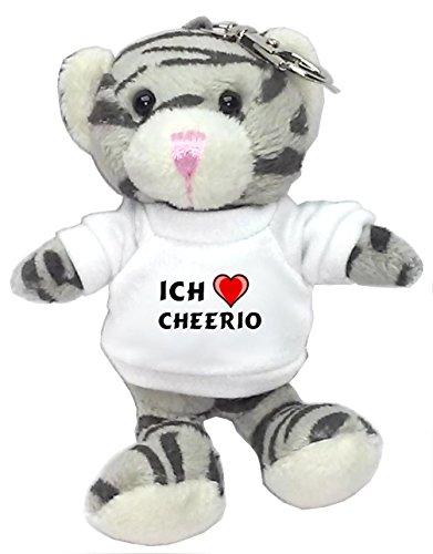 plusch-graue-katze-schlusselhalter-mit-t-shirt-mit-aufschrift-ich-liebe-cheerio-vorname-zuname-spitz