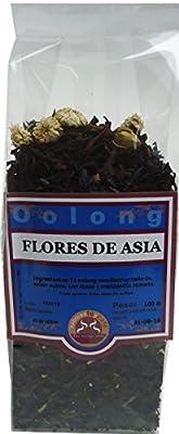 SABOREATE Y CAFE THE FLAVOUR SHOP Thé Oolong Bleu Semifermentado Fleurs d'Asie Infusion Minceur Naturel Bulk 100 Grammes