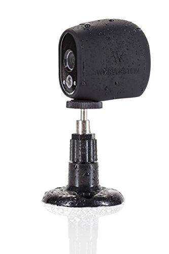 Supporto da Parete per videocamera di sicurezza Arlo Cam- regolabile supporto per interni/esterni per Arlo Cam e altri modelli compatibili di Dropcessories (1 Pack, Nero)