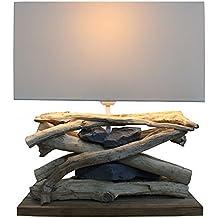 Diseño Baltic Sea de lámpara (claro) de madera con pinchos y piedras