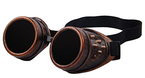 SaySure - Unisex Gothic Vintage Victorian Style Steampunk Goggles (Bike Oakley Dirt)
