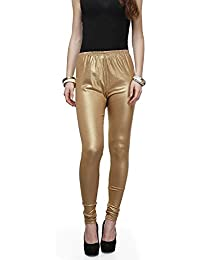 ROOLIUMS ® (Brand Factory Outlet) Women's Super Soft Lycra Shimmer Leggings - Dark Golden (Pack Of 1) 4 Way Stretchable...