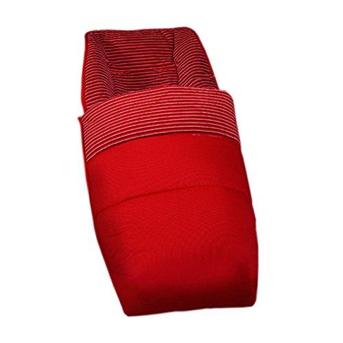 Saco de invierno para silla de bebe universal ROJO. Interior rayitas piel de melocotón. Muy Suave, cálido y confortable.