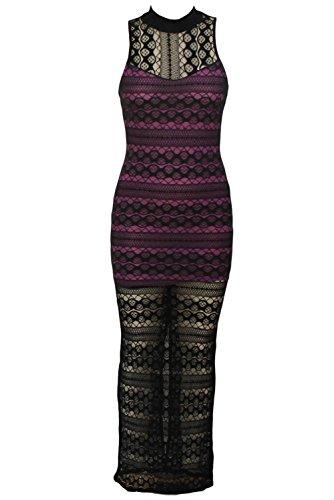 Valin Deman Mehrfarbige SY6516 Langes Kleid Mehrfarbige