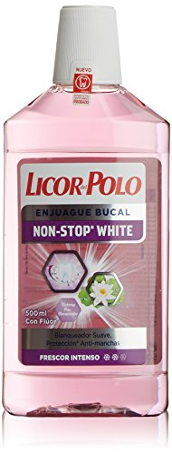 Licor del Polo Collutorio, Non Stop White Enjuague Bucal, 500 ml