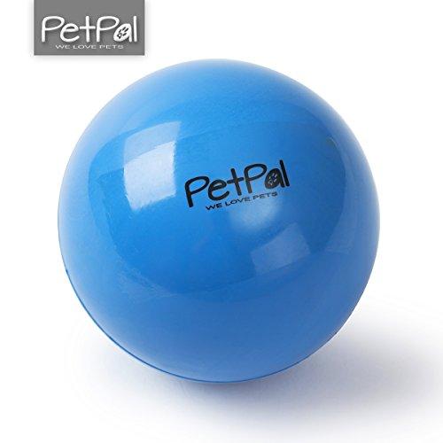 Robuster Hunde Ball von PetPäl aus Naturkautschuk Hartgummi | Unkaputtbarer Hundeball Ø 7cm | Hundespielball aus Vollgummi | Hundespielzeugball Springt Gut | Flumi Bounce Kauspielzeug | Spielzeug für Hunde