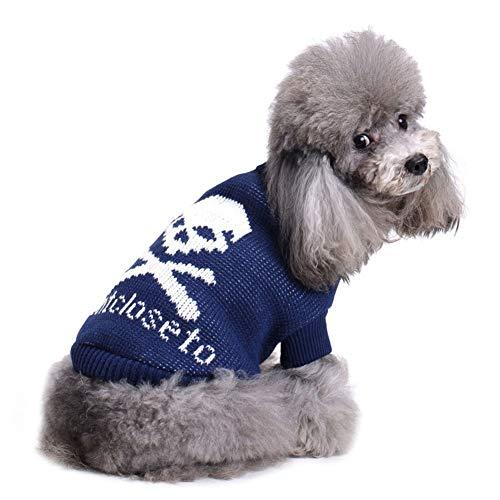 CHIYEEE Weihnachtspullover für Hunde und Katzen Weihnachten Hundepullover Warm Hundepulli Winter Strickpullover Sweater XXL (Minion Hund Anzug)