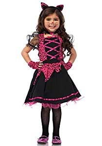 Wonderland- Niñas, Color Rosa, Negro, X-Small (3T-4T). 98-104 cm de Altura. (Leg Avenue Inc. 8402981034609)