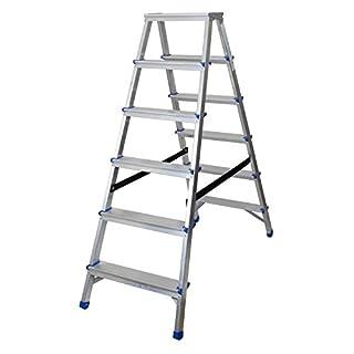 Abbey Aluminium Double Sided Step Ladders 6 Tread