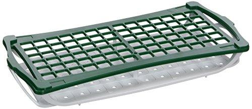 camlab Kunststoffe RTP/7020-g 2Etagen Rack für 13mm Tubes, grün