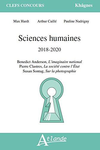 Sciences humaines 2018-2020 par Max Hardt