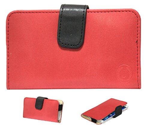 Jo Jo A8 Nillofer Leather Carry Case Cover Pouch Wallet Case For Lenovo S850 Red Black  available at amazon for Rs.295