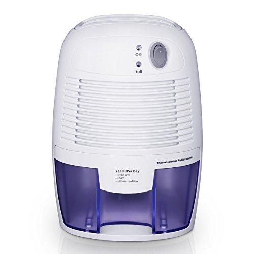 Luftentfeuchter mit 500mL Wassertank Großvolumige Luftentfeuchter Air Dryer Luftreinigungsfunktion Feuchtigkeitsentzugfähigkeit (250ml pro Tag) für Zimmer, Schrank, Büro, Keller, Wandschrank