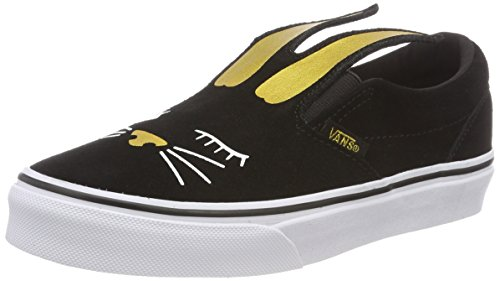 Vans Unisex-Kinder Slip-on Bunny Slip On Sneaker, Schwarz (Black/Gold Zx1), 33 EU