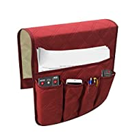 Glomixs 1 Pcs Sofa Armrest Organizer Bag Couch Chair TV Remote Control Magazine Waterproof Storage Bag, Waterproof Sofa Storage Bag (Pongee & Cotton & Fabric & 60 * 31 * 40cm) 2019 New