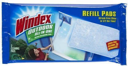 Windex Outdoor All-In-One Window Cleaner Pads Refill-2 ct. (Quantity of 6) by Windex